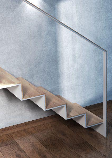 Scala metallo + legno
